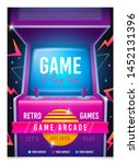 retro gaming  game of 80s 90s.... | Shutterstock .eps vector #1452131396