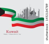 kuwait independence day  can be ... | Shutterstock .eps vector #1452134789