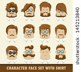 men character icon set with... | Shutterstock .eps vector #145213840
