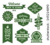 vintage label welcome back to... | Shutterstock .eps vector #145214890