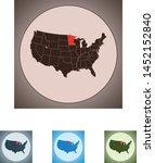 vector map of the minnesota | Shutterstock .eps vector #1452152840