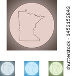 vector map of the minnesota | Shutterstock .eps vector #1452152843
