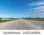 Gravel Road In Countryside Of...