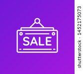 modern sale banner icon in... | Shutterstock .eps vector #1452175073