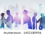 silhouettes of diverse... | Shutterstock . vector #1452180956