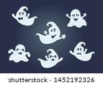 cute ghosts set. vector...   Shutterstock .eps vector #1452192326