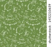 Bright Green Seamless Pattern...
