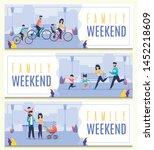 set banner inscription femily... | Shutterstock .eps vector #1452218609