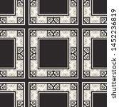 seamless geometric pattern.... | Shutterstock .eps vector #1452236819