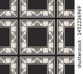 seamless geometric pattern.... | Shutterstock .eps vector #1452236969