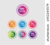 try now   glossy labels or... | Shutterstock .eps vector #1452245579