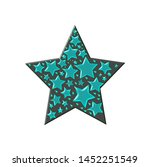 stars in stars in turquoise...