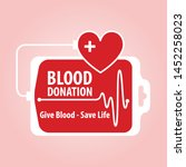 poster for blood donation on... | Shutterstock .eps vector #1452258023