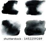 set of vector brush black... | Shutterstock .eps vector #1452259289