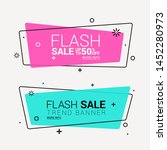 flat linear promotion ribbon... | Shutterstock .eps vector #1452280973