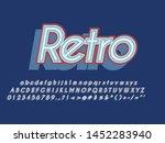 retro color font and alphabet.... | Shutterstock .eps vector #1452283940