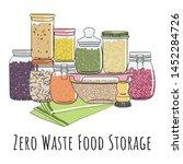 zero waste food storage in... | Shutterstock .eps vector #1452284726