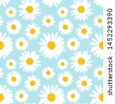 seamless pattern with chamomile ...