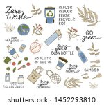 zero waste concept  items and... | Shutterstock .eps vector #1452293810