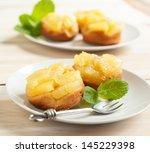 individual pineapple upside...   Shutterstock . vector #145229398