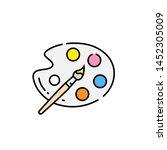 paint palette line icon.... | Shutterstock .eps vector #1452305009