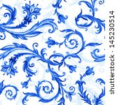 Seamless Floral Pattern  Blue...