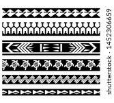 tribal pattern tattoo ... | Shutterstock .eps vector #1452306659