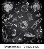 hand drawn set of italian food   Shutterstock .eps vector #145231423