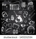 Doodle Set Of Kitchen Elements