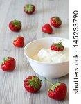 still life with strawberry on a ... | Shutterstock . vector #145233790