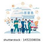 informational poster hospital... | Shutterstock .eps vector #1452338036