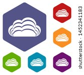 nature cloud icons colorful...
