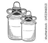 bottle with massage oil ... | Shutterstock .eps vector #1452346013