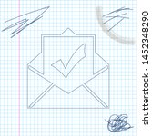 envelope with document and... | Shutterstock .eps vector #1452348290