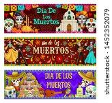 dia de los muertos  mexican day ... | Shutterstock .eps vector #1452352079