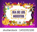 mexican day of the dead vector... | Shutterstock .eps vector #1452352100