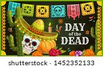 day of the dead mexican sugar... | Shutterstock .eps vector #1452352133