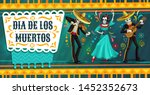 day of the dead mexican fiesta... | Shutterstock .eps vector #1452352673
