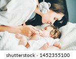 adorable two month old baby...   Shutterstock . vector #1452355100