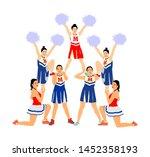 cheerleader dancers figure... | Shutterstock .eps vector #1452358193