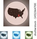 vector map of the mississippi | Shutterstock .eps vector #1452364700