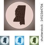 vector map of the mississippi | Shutterstock .eps vector #1452364706