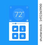 thermostat app interface ...