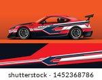 car wrap design vector  truck...   Shutterstock .eps vector #1452368786