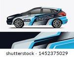 car wrap design  for branding ... | Shutterstock .eps vector #1452375029