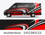 van wrap livery design. ready... | Shutterstock .eps vector #1452383123
