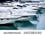 Yachts And Speed Boats At...