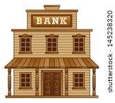 wild west bank | Shutterstock .eps vector #145238320