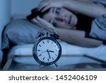 sleepless and desperate...   Shutterstock . vector #1452406109