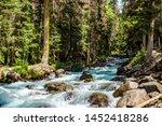 mountain river water landscape. ... | Shutterstock . vector #1452418286
